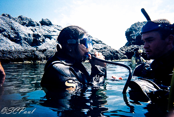 Training before the dive
